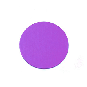 """Metal Stamping Blanks Anodized Aluminum 1/2"""" Circle, Violet, 24g"""