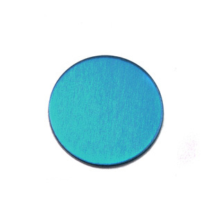 "Metal Stamping Blanks Anodized Aluminum 1/2"" Circle, Turquoise, 24g"