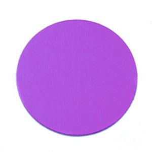 "Metal Stamping Blanks Anodized Aluminum 3/4"" Circle, Violet, 24g"