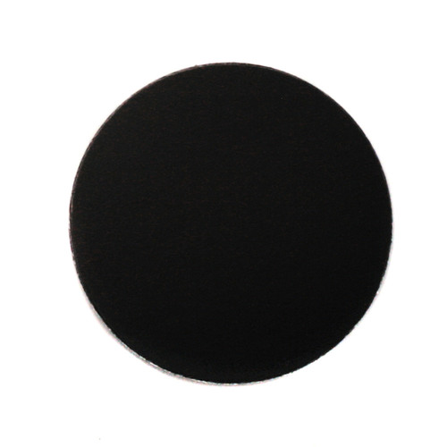 "Metal Stamping Blanks Anodized Aluminum 1"" Circle, Black, 24g"