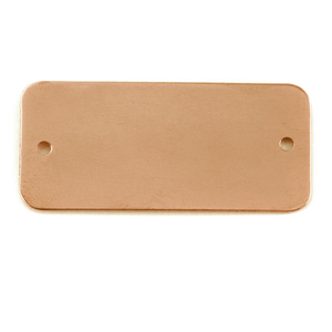 Metal Stamping Blanks Copper Rectangle Component with Holes, 24g