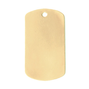 "Metal Stamping Blanks Brass Medium Dog Tag, 29mm (1.14"") x 16mm (.63""), 24g"