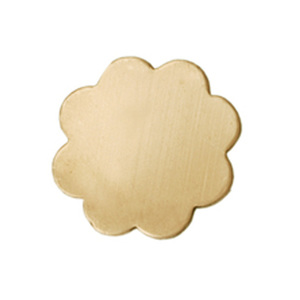 "Metal Stamping Blanks Brass Flower with 8 Petals, 19mm (.75""), 24g"