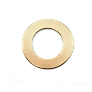 "Metal Stamping Blanks Brass Washer 22m (.87""), 13mm (.51) ID, 24g"
