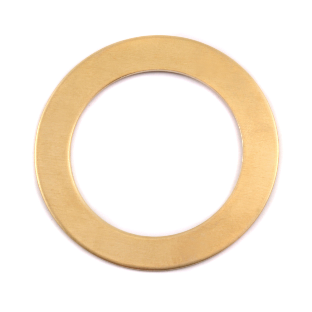 "Metal Stamping Blanks Brass  Washer 31.5mm (1.24"") with 22mm (.87"") ID, 24g, Pk of 5"
