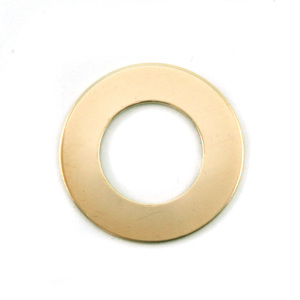 "Metal Stamping Blanks Brass Washer, 25mm (1"") with 16mm (.63"") ID, 24g"