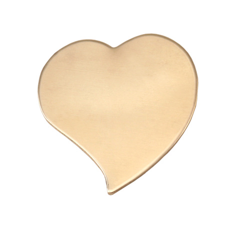 Metal Stamping Blanks Brass Large Stylized Heart, 24g