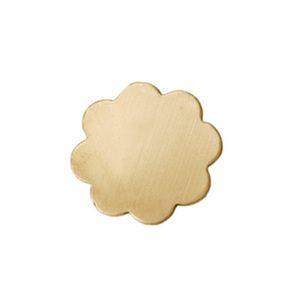 "Metal Stamping Blanks Brass Flower with 8 Petals, 14mm (.55""), 24g"