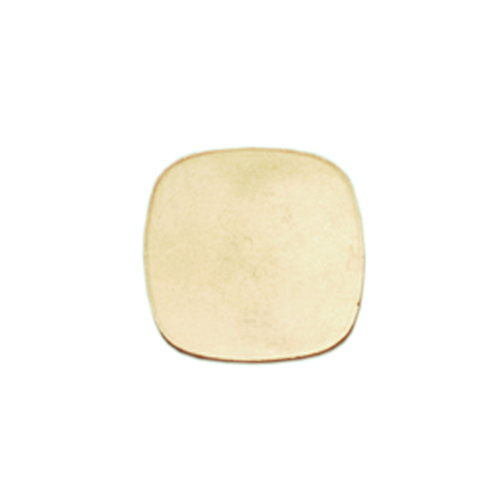 "Metal Stamping Blanks Brass Small Rounded Square,  11mm (.43""), 24g"