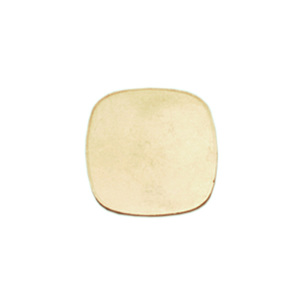 Metal Stamping Blanks Brass Small Rounded Square, 24g