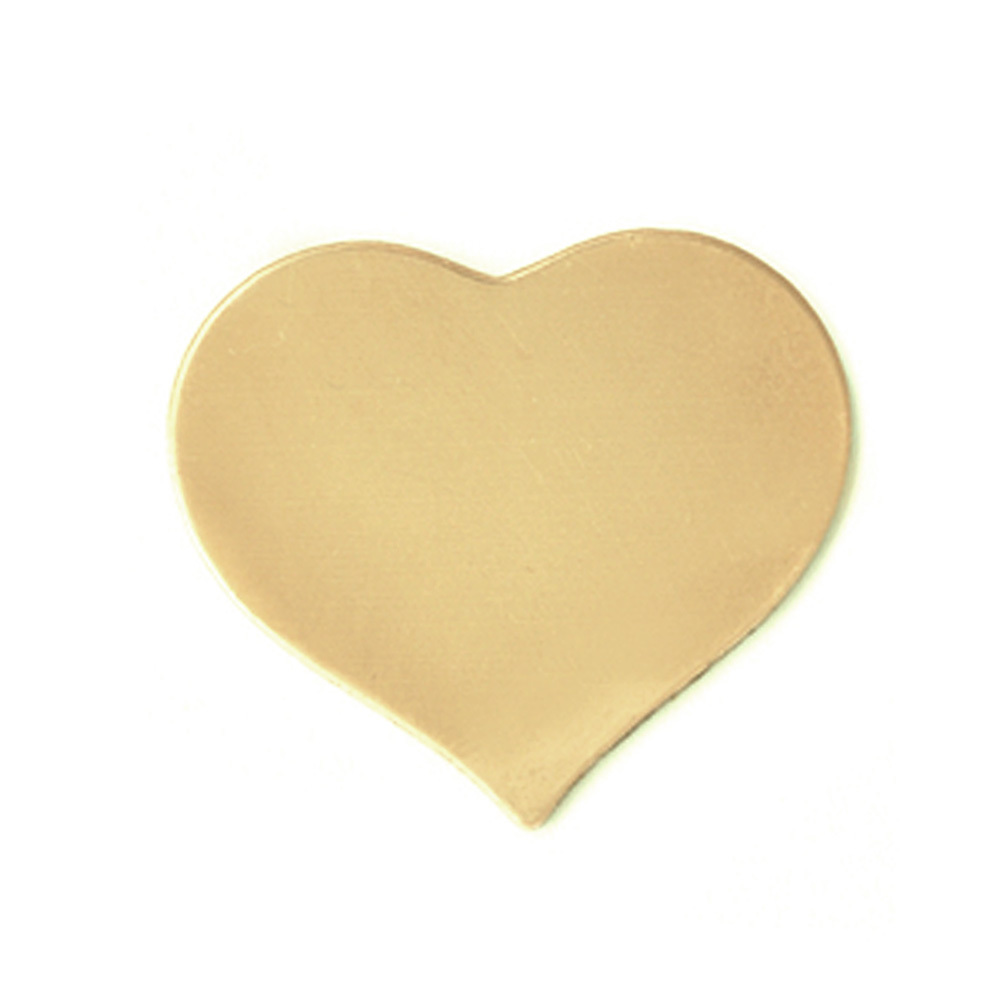Metal Stamping Blanks Brass Medium Puffy Heart, 24 gauge