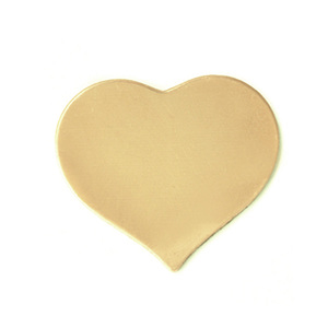 Metal Stamping Blanks Brass Medium Puffy Heart, 24 gauge