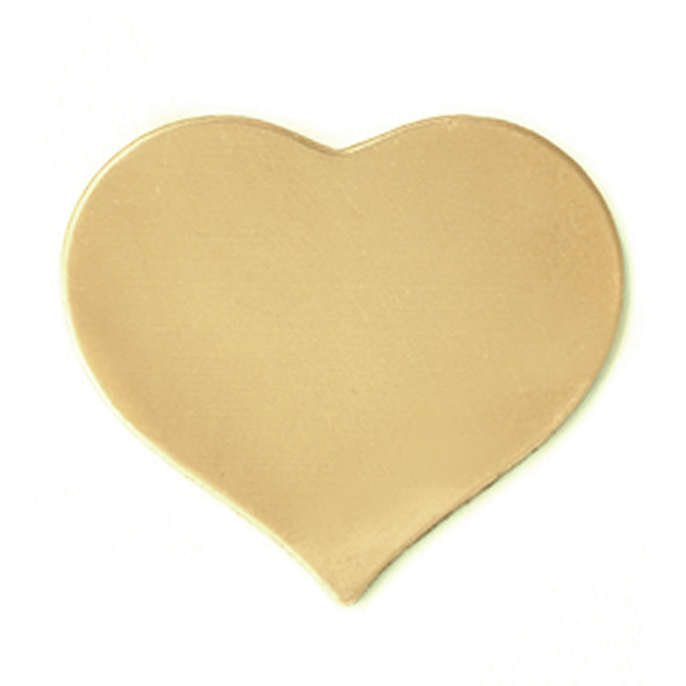 Metal Stamping Blanks Brass Large Puffy Heart, 24g