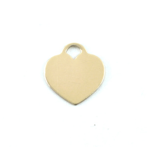 "Metal Stamping Blanks Brass ""Tiffany"" Style Heart, 13mm (.51"") x 12mm (.47""), 24g"