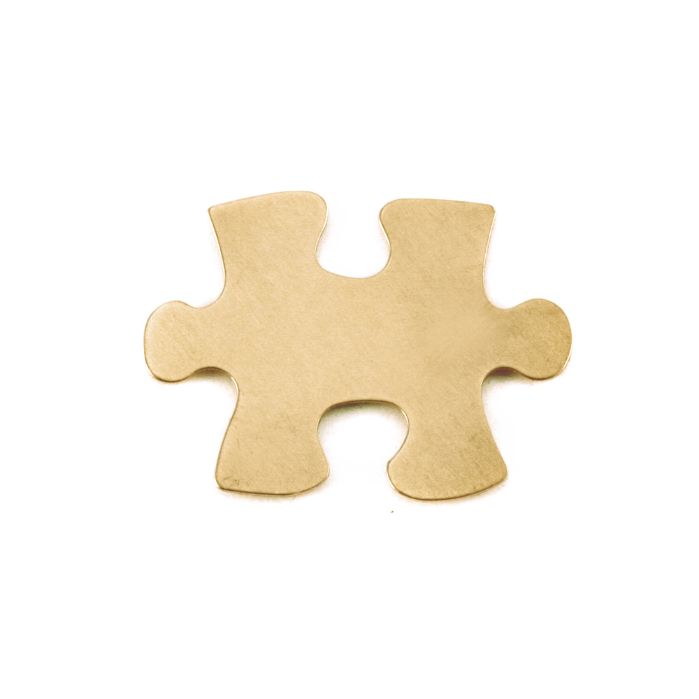 Metal Stamping Blanks Brass Puzzle Piece, 24g