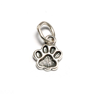 Charms & Solderable Accents Sterling Silver Tiny Dog Paw Charm