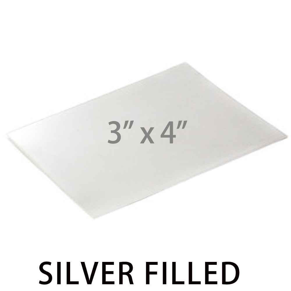 "Wire & Sheet Metal Silver Filled Sheet, 3""x4"", 24g"