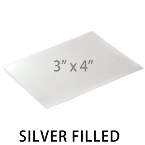 "Sheet Metal Silver Filled Sheet, 3""x4"", 24g"