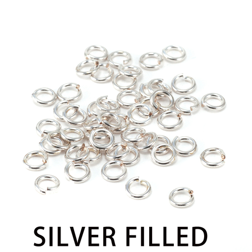 Chain & Jump Rings Silver Filled 3.5mm I.D. 18 Gauge Jump Rings, 1/4 ozt