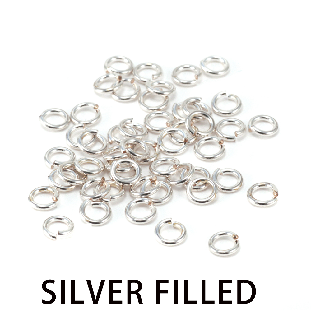 Jump Rings Silver Filled 3.5mm I.D. 18 Gauge Jump Rings, 1/4 ozt