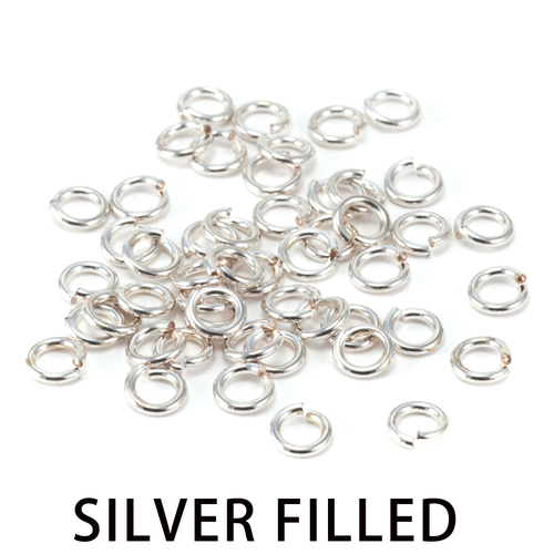 Chain & Jump Rings Silver Filled 4mm I.D. 18 Gauge Jump Rings, 1/4 ozt