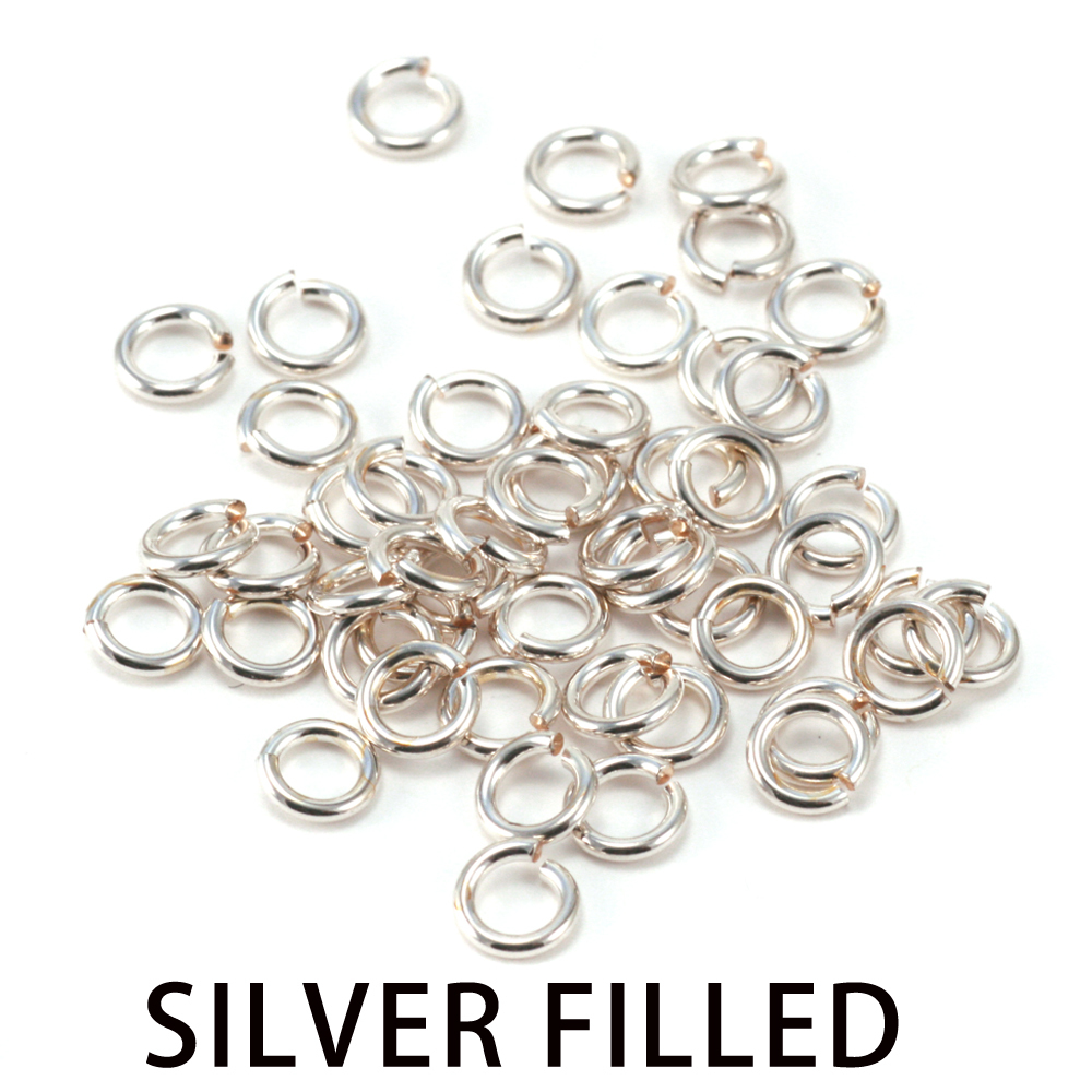 Jump Rings Silver Filled 3mm I.D. 18 Gauge Jump Rings, 1/4 ozt