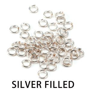Chain & Jump Rings Silver Filled 3mm I.D. 18 Gauge Jump Rings, 1/4 ozt