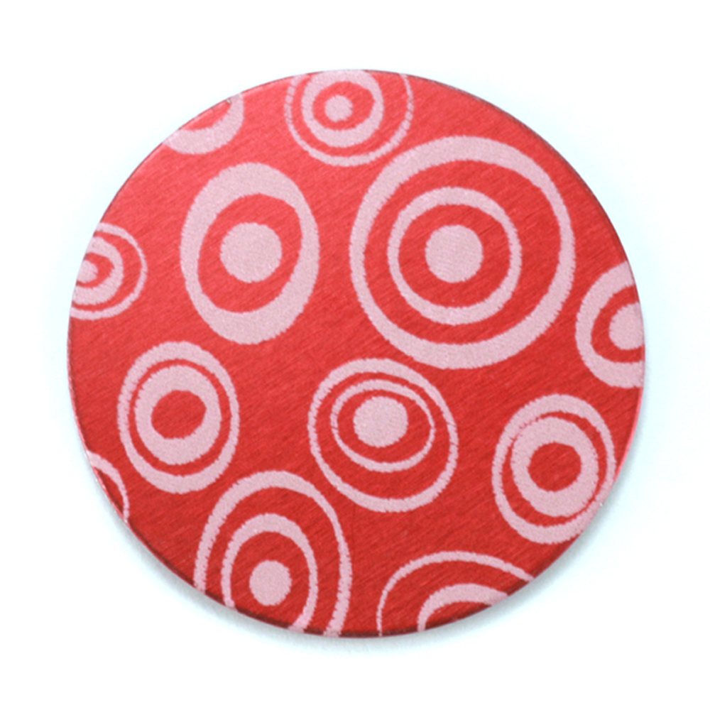 "Anodized Aluminum 1"" Circle, Red Design #13, 22g"
