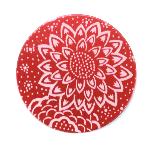 "Dregs Anodized Aluminum 1"" Circle, Red Design #3, 22g"