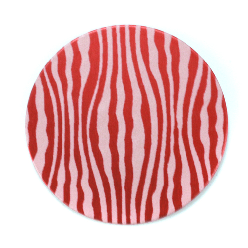 "Dregs Anodized Aluminum 1"" Circle, Red Design #18, 22g"