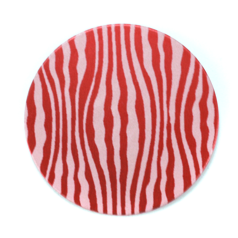 "Anodized Aluminum 1"" Circle, Red Design #18, 22g"