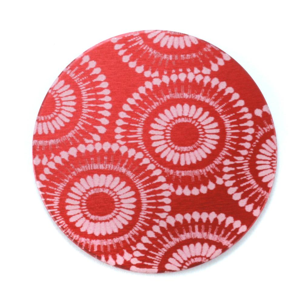 "Anodized Aluminum 1"" Circle, Red Design #7, 22g"