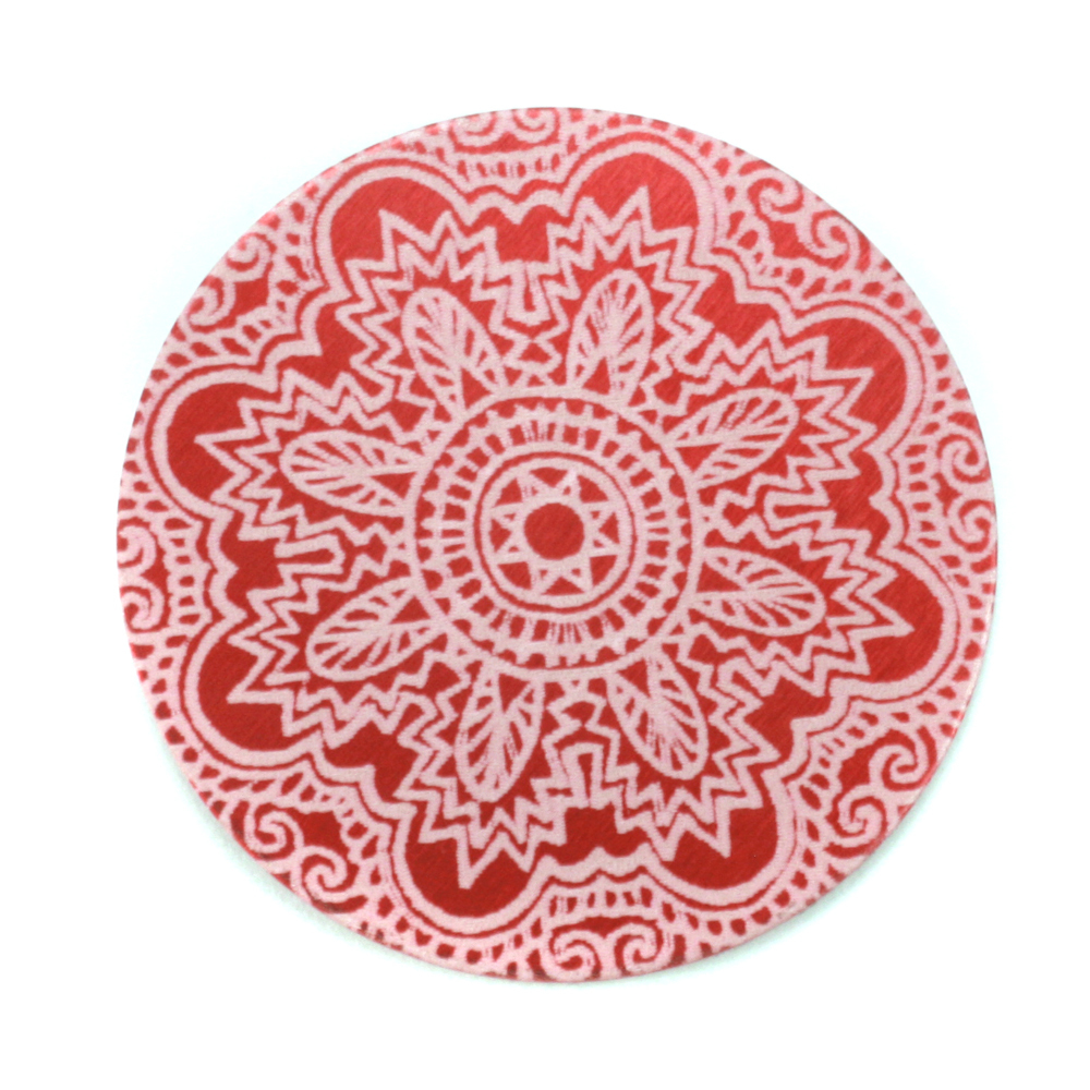 "Anodized Aluminum 1"" Circle, Red Design #17, 22g"