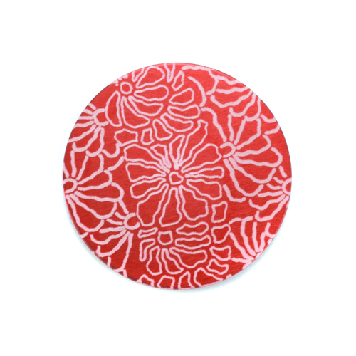 "Dregs Anodized Aluminum 3/4"" Circle, Red Design #5, 22g"