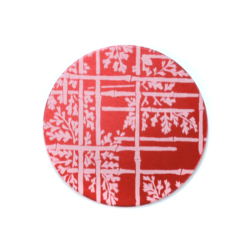 "Metal Stamping Blanks Anodized Aluminum 3/4"" Circle, Red Design #6, 22g"