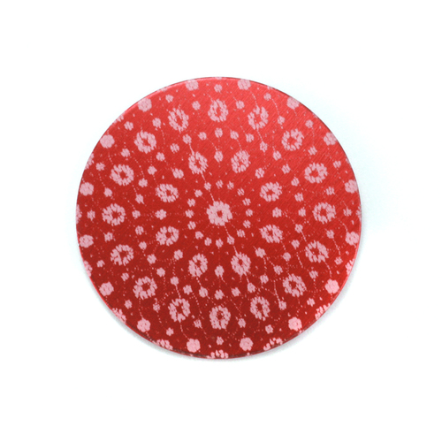 "Dregs Anodized Aluminum 3/4"" Circle, Red Design #9, 22g"