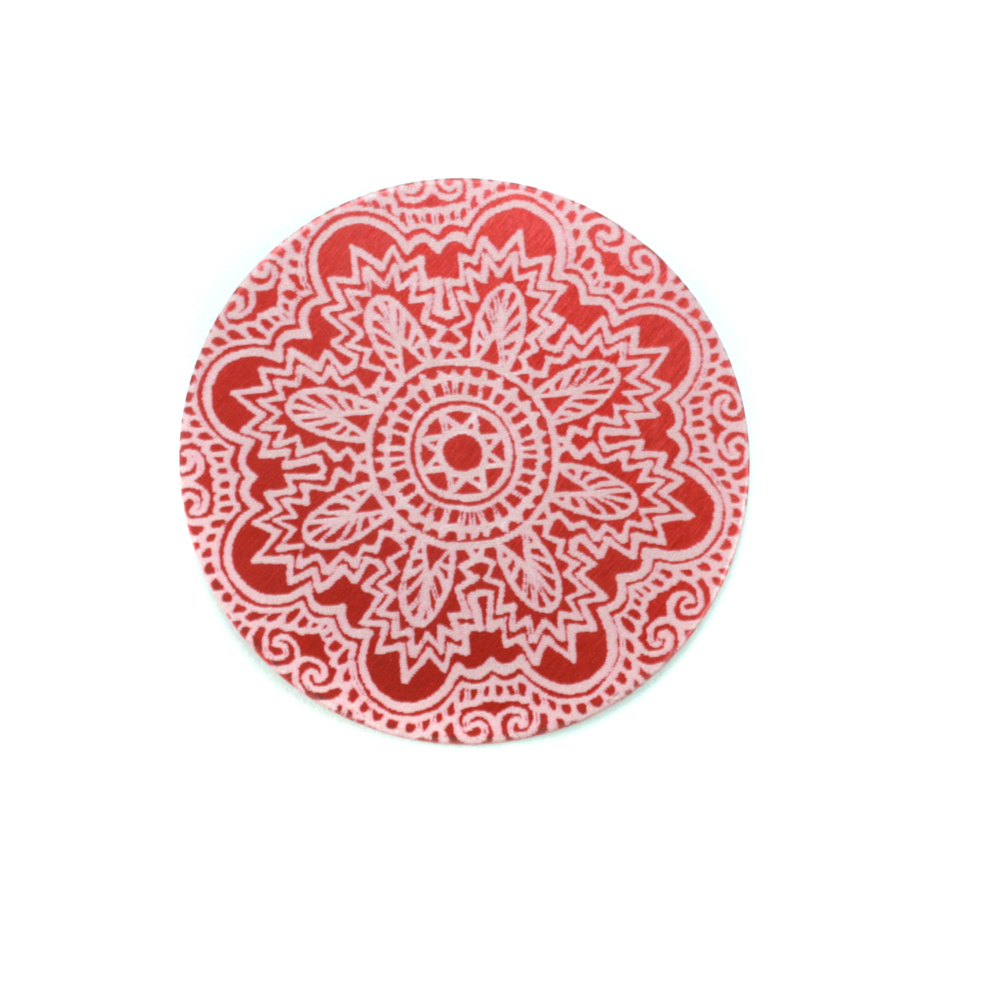 "Anodized Aluminum 3/4"" Circle, Red Design #17, 22g"