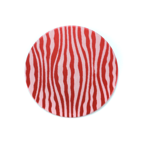 "Dregs Anodized Aluminum 3/4"" Circle, Red Design #18, 22g"