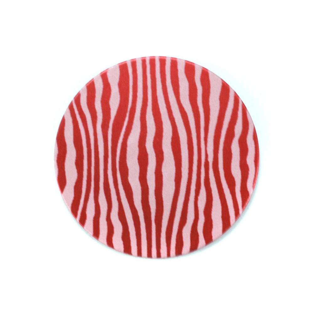 "Anodized Aluminum 3/4"" Circle, Red Design #18, 22g"