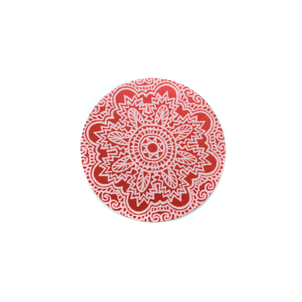 "Anodized Aluminum 5/8"" Circle, Red Design #17, 22g"