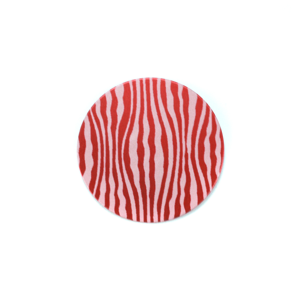 "Metal Stamping Blanks Anodized Aluminum 5/8"" Circle, Red Design #18, 22g"