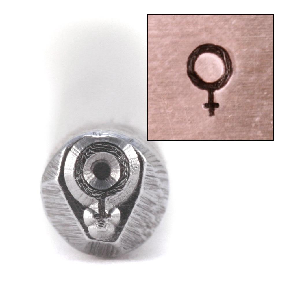 """Metal Stamping Tools """"Female"""" Symbol Design Stamp"""