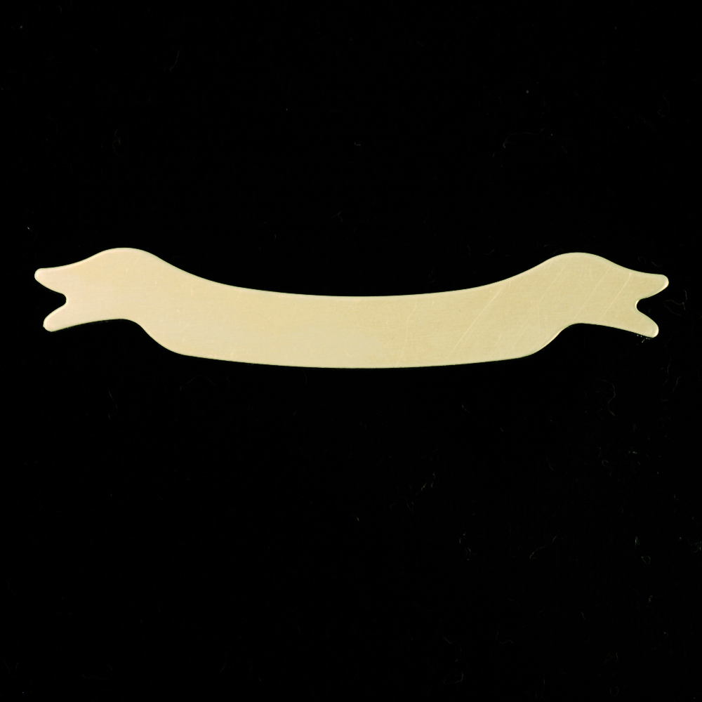 Metal Stamping Blanks Gold Filled Banner, 24g