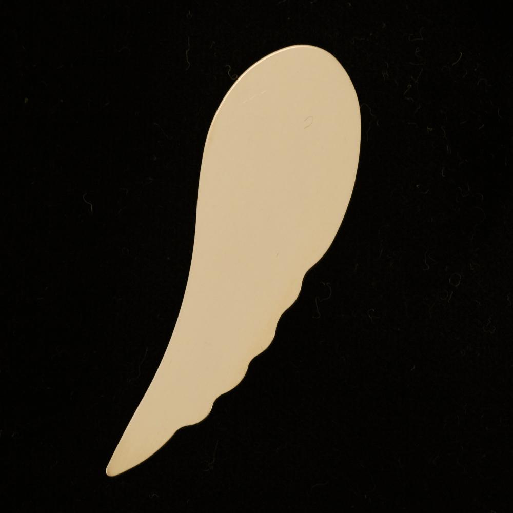 Metal Stamping Blanks Gold Filled Wing, 24g