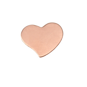 "Metal Stamping Blanks Copper Stylized Heart, 15mm (.59"") x 14mm (.55""), 24g, Pk of 5"