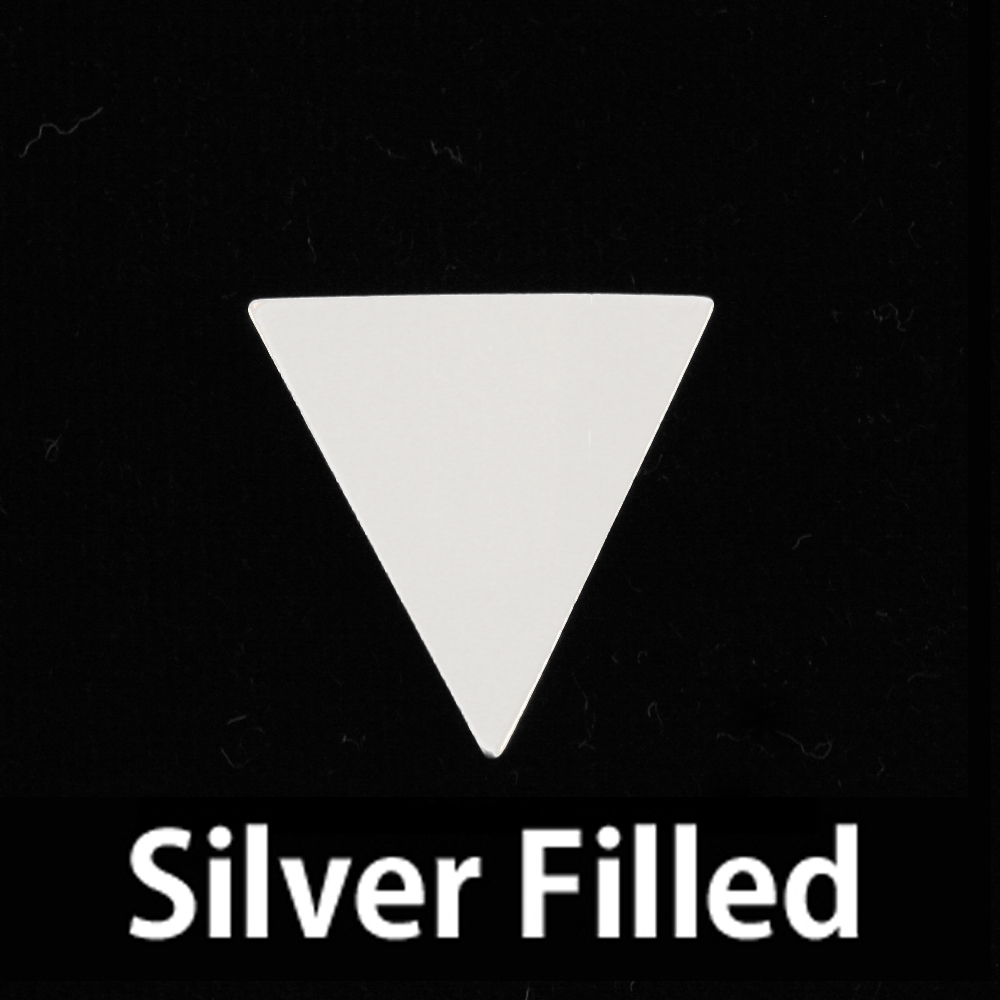 Metal Stamping Blanks Silver Filled Triangle Flag, 24g