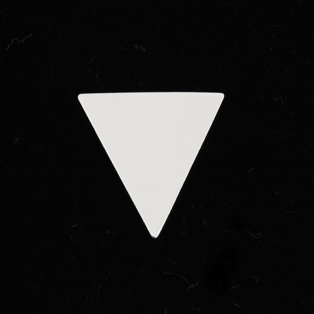 "Metal Stamping Blanks Sterling Silver Triangle, 19mm (.75"") x 18mm (.71""), 24g"