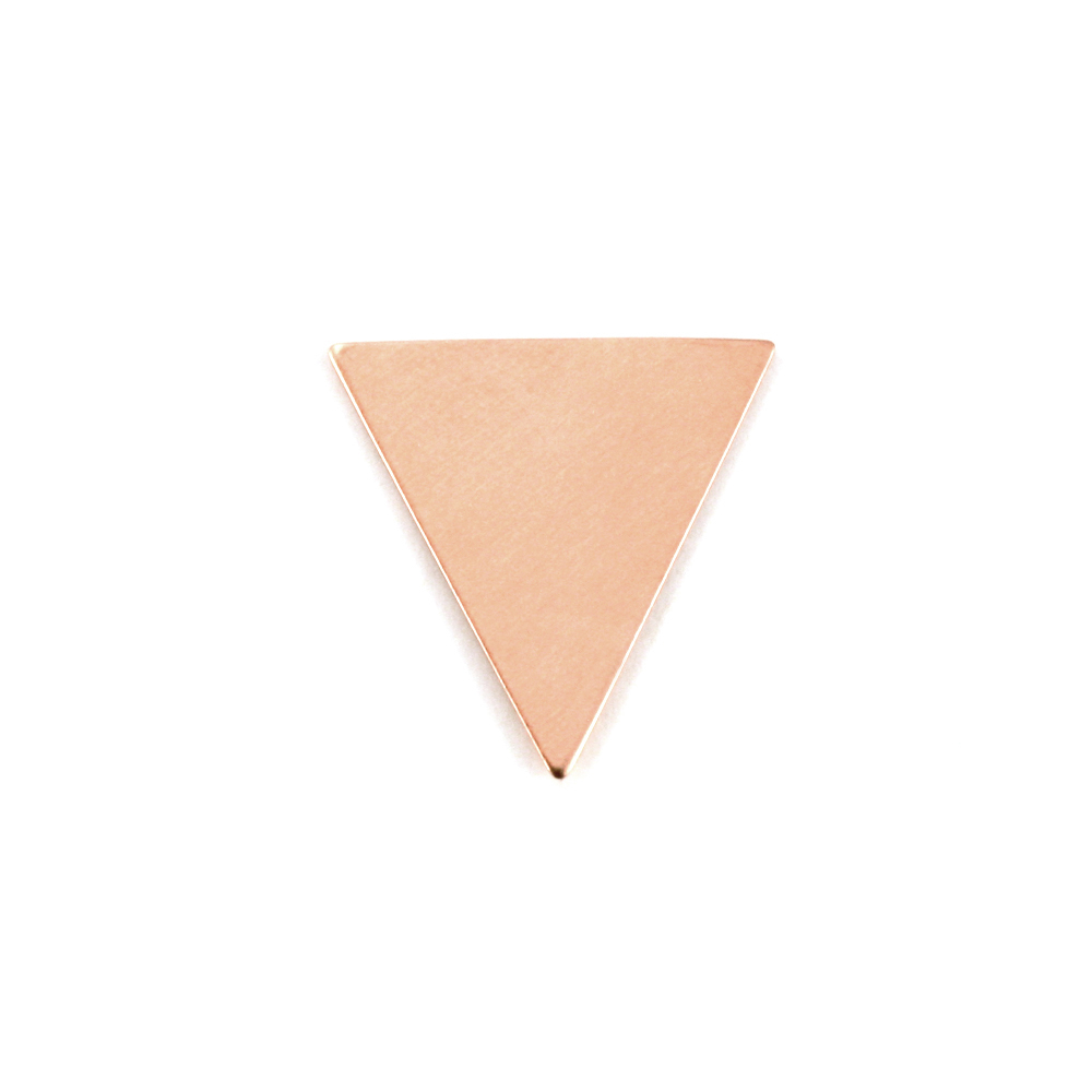 "Metal Stamping Blanks  Copper Triangle, 19mm (.75"") x 18mm (.71""), 24g, Pack of 5"
