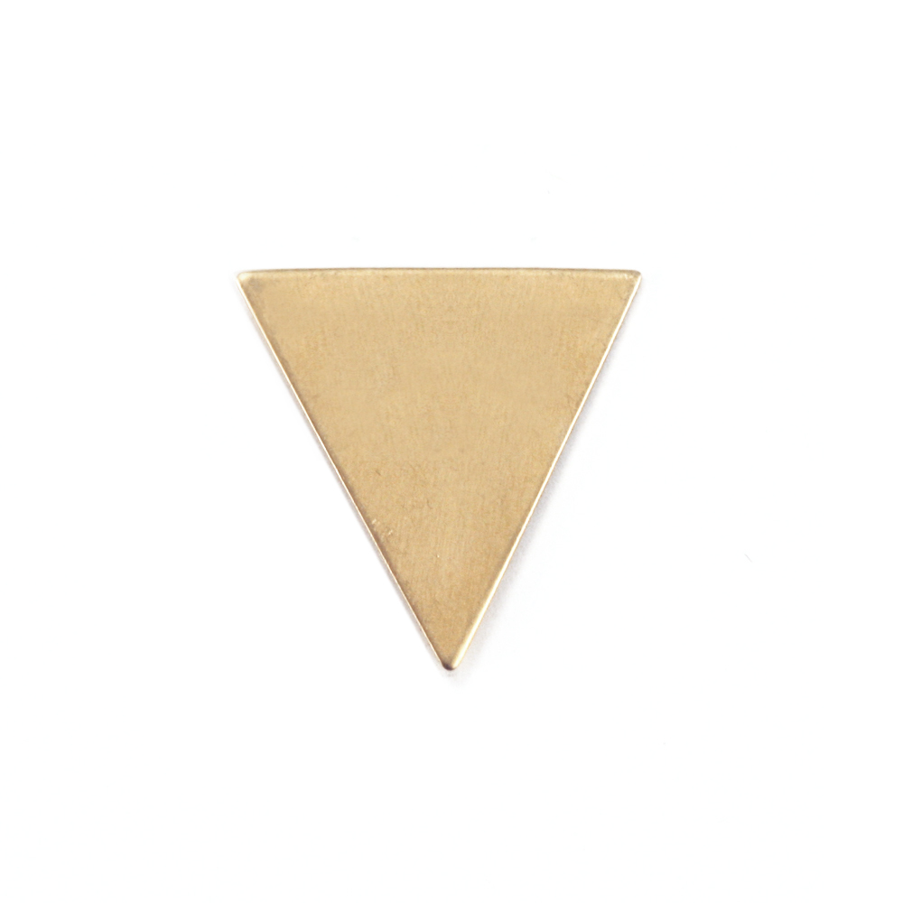 "Metal Stamping Blanks Brass Triangle, 19mm (.75"") x 18mm (.71""), 24g"