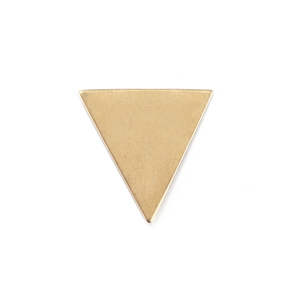 "Metal Stamping Blanks Brass Triangle, 19mm (.75"") x 18mm (.71""), 24g, Pk of 5"